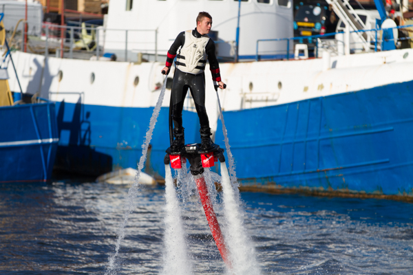 Flyboard Demonstration at Scheveningen Harbour Open Day.